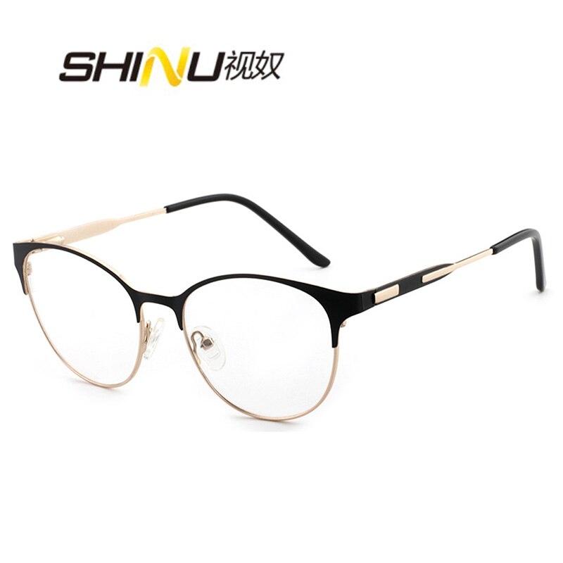 SHINU Anti Blue Ray Customized Prescription Eyewear Progressive multifocal Lenses fanshion metal glasses Multicolor optional