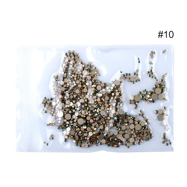 1440 Pcs/Bag Nail Rhinestones AB Color Irregular Beads Mixed Sizes Nail Decoration Stones Shiny Manicure Accessories Tool