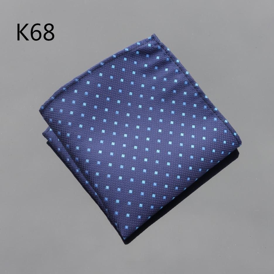 Ikepeibao Handkerchief Navy Blue Dots Hanky Men Tie Jacquard Woven Pocket Square