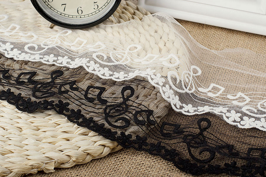 4.5cm 1 metre Stylish white guipure lace trimming for crafting designing decor