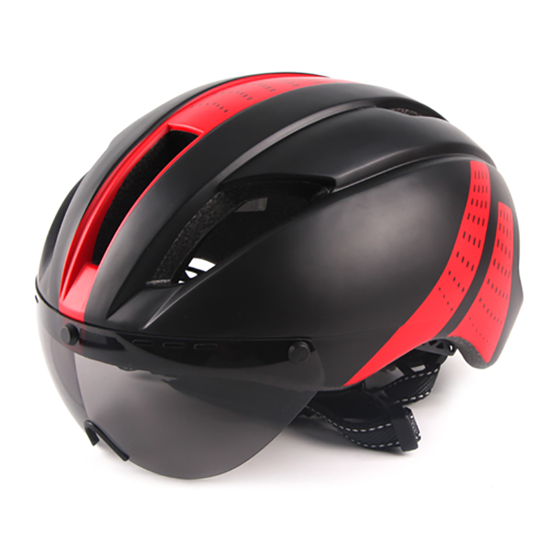 2017 New Glasses Bicycle Helmet With Lens Integrally ...