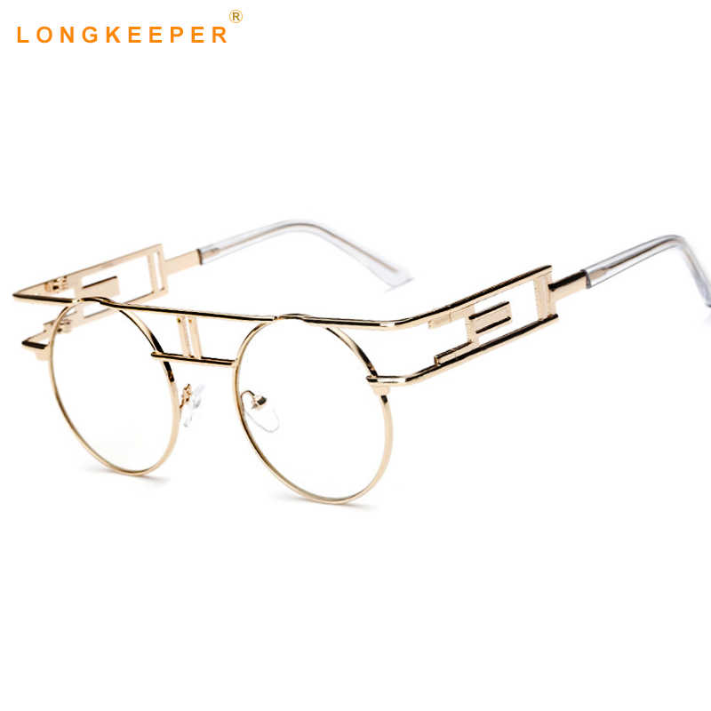 3fd408fd597 ... Wholesale New Clear Fashion Gold Round Frames Eyeglasses For Women  Small Vintage Steampunk Round Glasses For ...