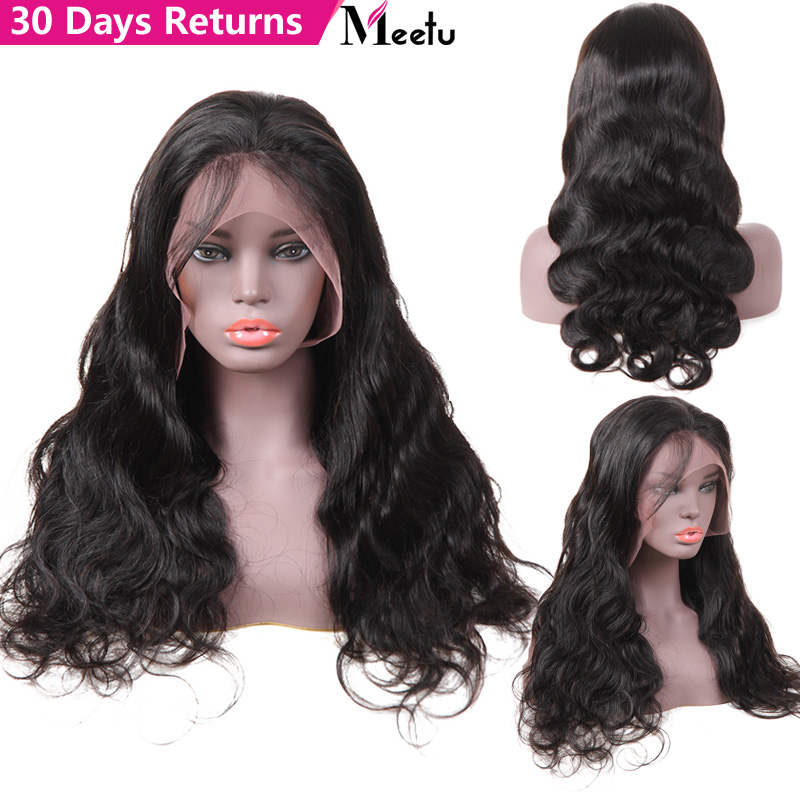 Body Wave Lace Front Human Hair Wigs For Women Pre Plucked Hairline With Baby Hair Meetu Brazilian Remy Hair Bleached Knots Wig