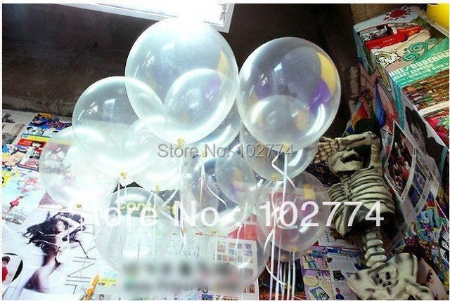 100pcs/lot wholesales 12 inch clear balloons transparent balloon wedding brithday party decoration high quality latex balls