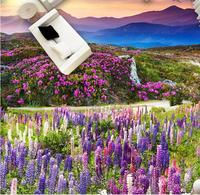 3D Flooring Natural Landscape plant flowers Vinyl Wallpaper 3D Foor Painting Photo Wall Murals 3D Floor Painting