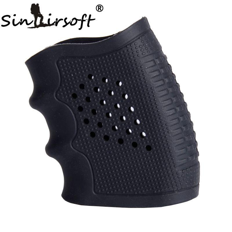 Eldiven kol örtüsü Anti kayma çoğu Glock tabanca avcılık aksesuarları taktik tabanca kauçuk kavrama
