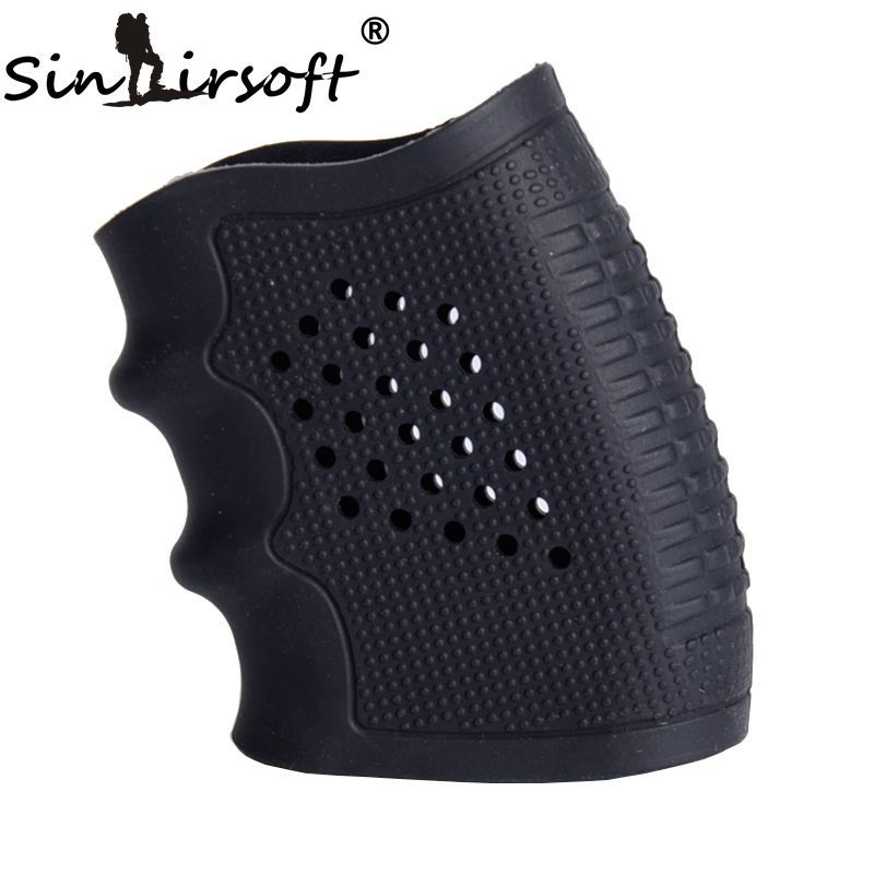 SINAIRSOFT New! Tactical Pistol Rubber Grip Glove Cover Sleeve Anti Slip for Most of Glock Handguns Airsoft Hunting Accessories