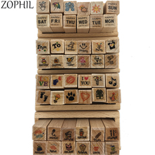 ZOPHIL Wooden Scrapbooking Stamping DIY Crafts Painting Decoration Stencil Template Supplies Silicone Rubber Stamp Diary Postage china post stamp 2015 4 24 solar terms spring fdc frist day cover postage stamp collecting postage stamps souvenir sheet