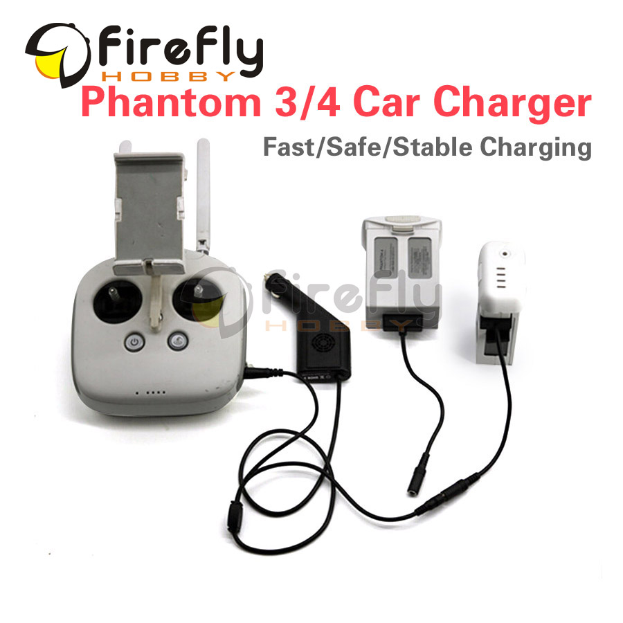 Phantom 3 4 General Use Smart Car Charger Intelligent Battery Charger Accessories for DJI Phantom3/4