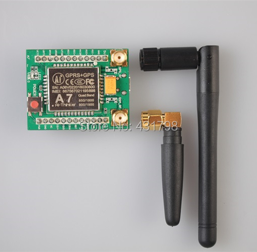 GPRS module + GSM module A7 \ SMS \ voice \ development board \ minimum system IOT Artificial Intelligence m35 gsm gprs cell phone development board module w voice interface antenna blue