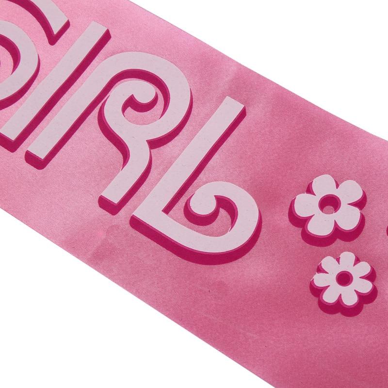 Hot 10 * 160cm födelsedag Girl's Sash Pink Party Decoration Party - Semester och fester - Foto 2