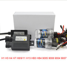 silm ballast blocks xenon hid conversion kit 12V 35W H1 H3 H4 H7 H8 H10 H11 H9 H11 H13 9005 9006 9007 lamp for car headlight