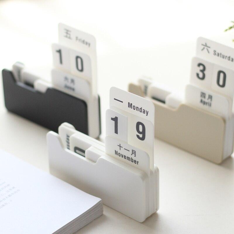 Kalender, Planer Und Karten Schnelle Lieferung Vintage Mon RÖmischen Büro Planer Schreibtisch Tisch Kalender Für 2018 Agenda Plan Chronicle Tischkalender