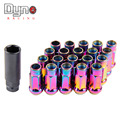 DYNO RACING -  NEO CHROME Muki SR48 LUG NUTS 12X1.5 1.5 ACORN RIM EXTENDED OPEN END
