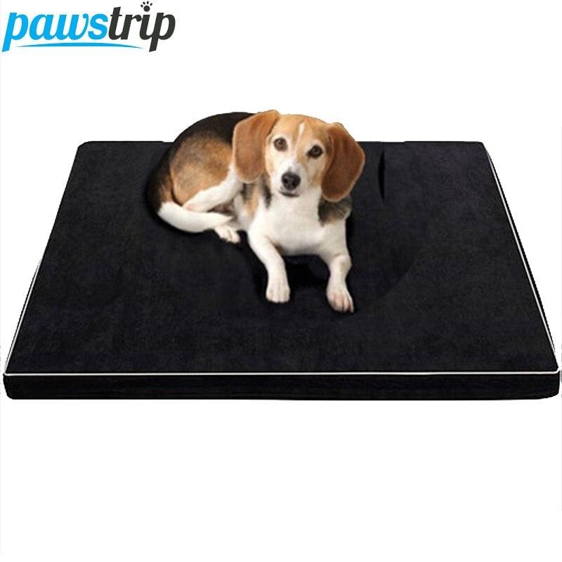 Memory Foam Собака Кровати Водонепроницаемый нижний Оксфорд ортопедический матрас Кровати для больших Товары для собак ML/XL