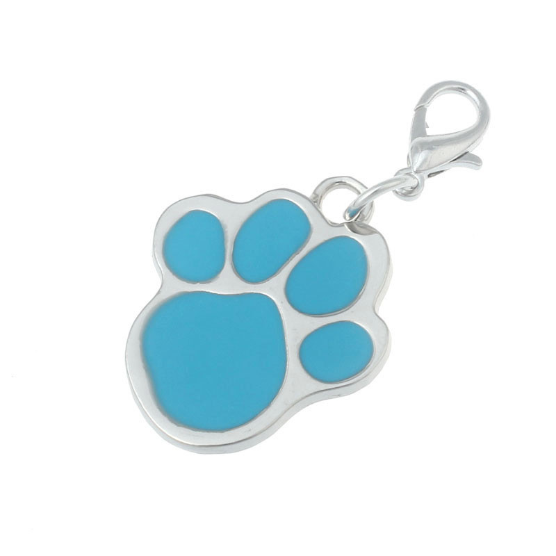 Waterproof & Durable Alloy Footprint Shape Pet Small Dog Puppy Cat Safety Collar Pendent Fashion Pet Jewelry Top Brand New
