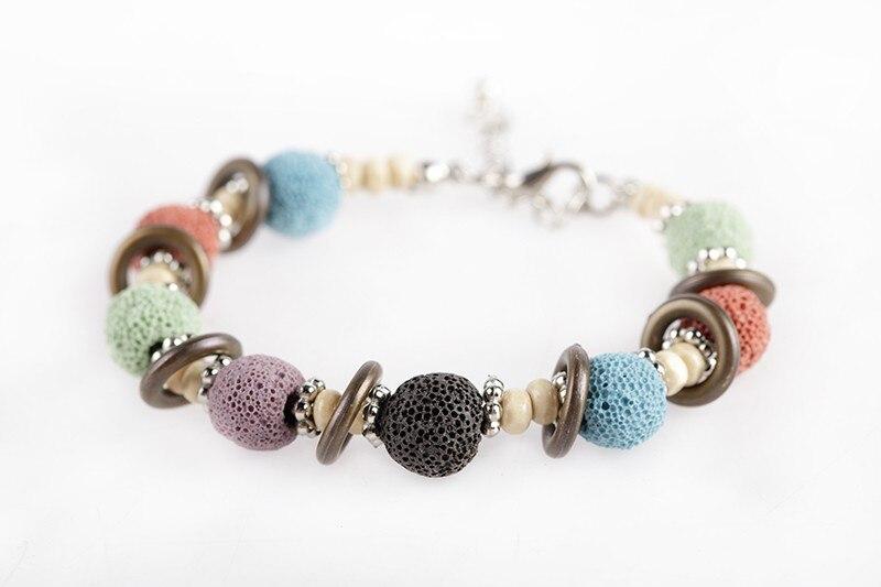 17 Lava Stone Beads Bracelet Beautiful Bangles Bracelets For Women Nature Stone Bracelet Strand Women Bracelets Jewelry Women 13