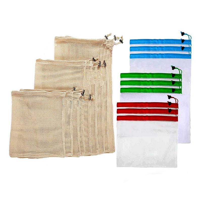 Reusable Produce Bags-Grocery Bags For Fruits, Vegetable, Food, Storage Organic Zero Waste Biodegradable Grocery Bag Superior