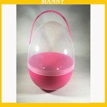 1 шт. большие пластиковые яйца 18*25 см Пластиковая капсула для пасхи сумка для подарков коробка с ручкой