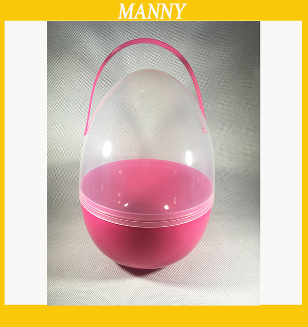 1 piece huge plastic easter egg 1825cm egg capsule for easter 1 piece huge plastic easter egg 1825cm egg capsule for easter gift handle negle Choice Image