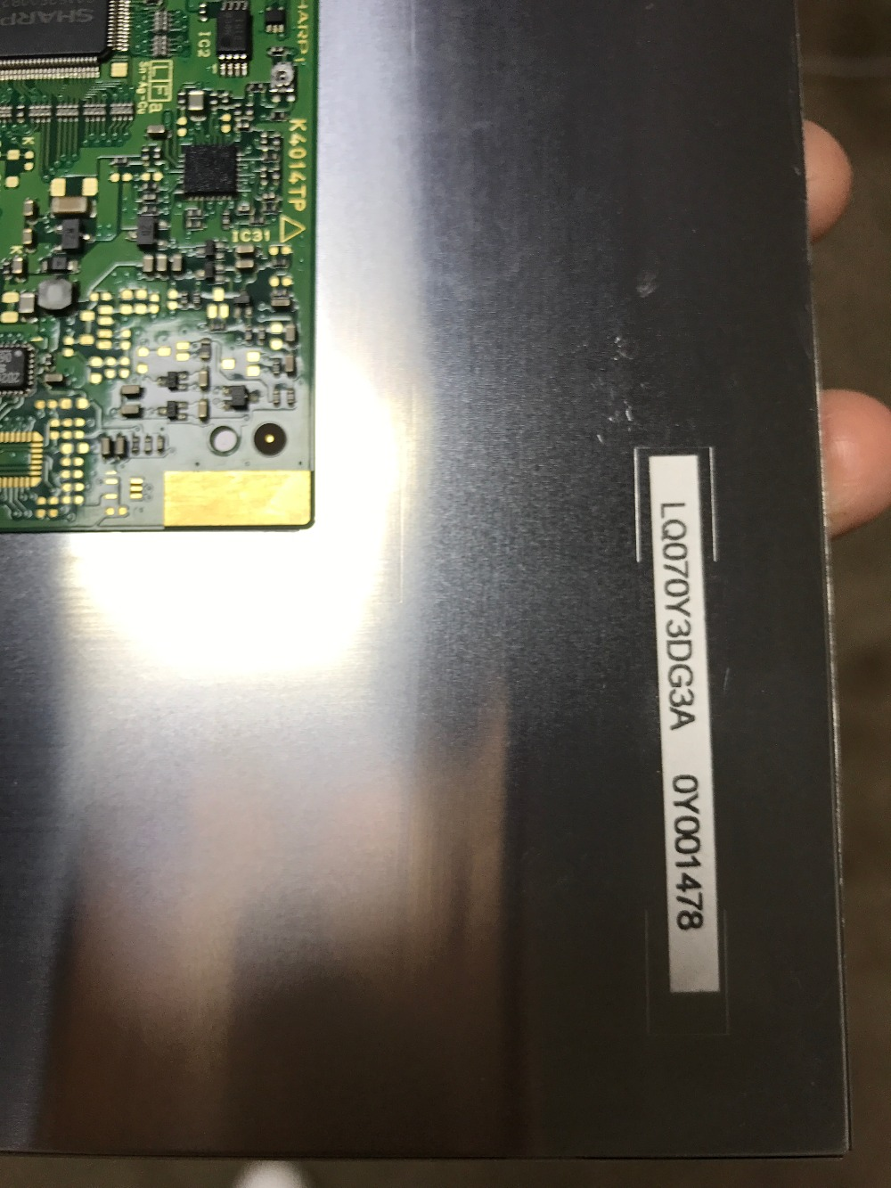 LQ070Y3DG3A 7.0 Inch Industrial lcd, new&A+ grade in stock, free shipmentLQ070Y3DG3A 7.0 Inch Industrial lcd, new&A+ grade in stock, free shipment