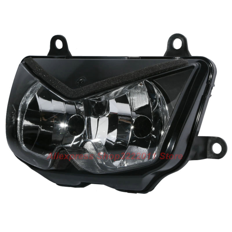 Clear Lens Motorcycle Plastic Front Light Lamp Case For Kawasaki NINJA 250 EX 250 2008-2011 Headlight Housing Set clear lens motorcycle plastic front light lamp case for kawasaki ninja zx6r 2000 2001 2002 headlight housing set