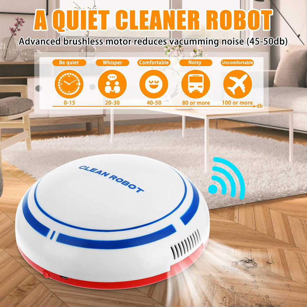 Rechargeable Auto Robot Vacuum Cleaner Smart Sweeping Robot Floor Dirt Dust Hair Automatic Cleaner Electric Robot kdcw1(China)