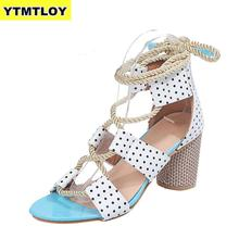 Women Sandals Lace Up Summer Shoes Woman Heels Pointed Fish