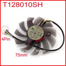 DC BRUSHLESS FAN T128010SH 12 V 0.25A 75 mét 40x40x40 mét Đối Với ASUS GTX560 HD5870 Đồ Họa Card Cooling Fan 4 Wire 4Pin(China)