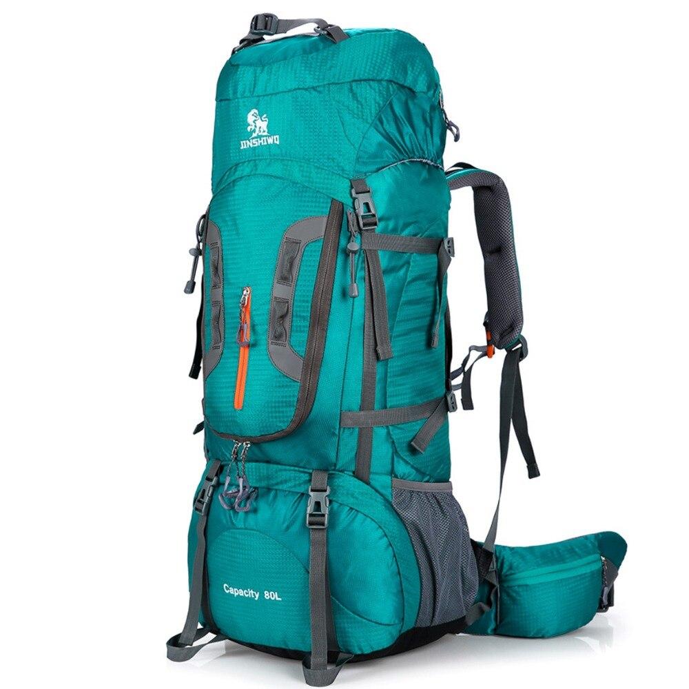 80L Camping senderismo mochilas grande al aire libre mochila Nylon superlight Sport Travel Bag soporte de aleación de aluminio