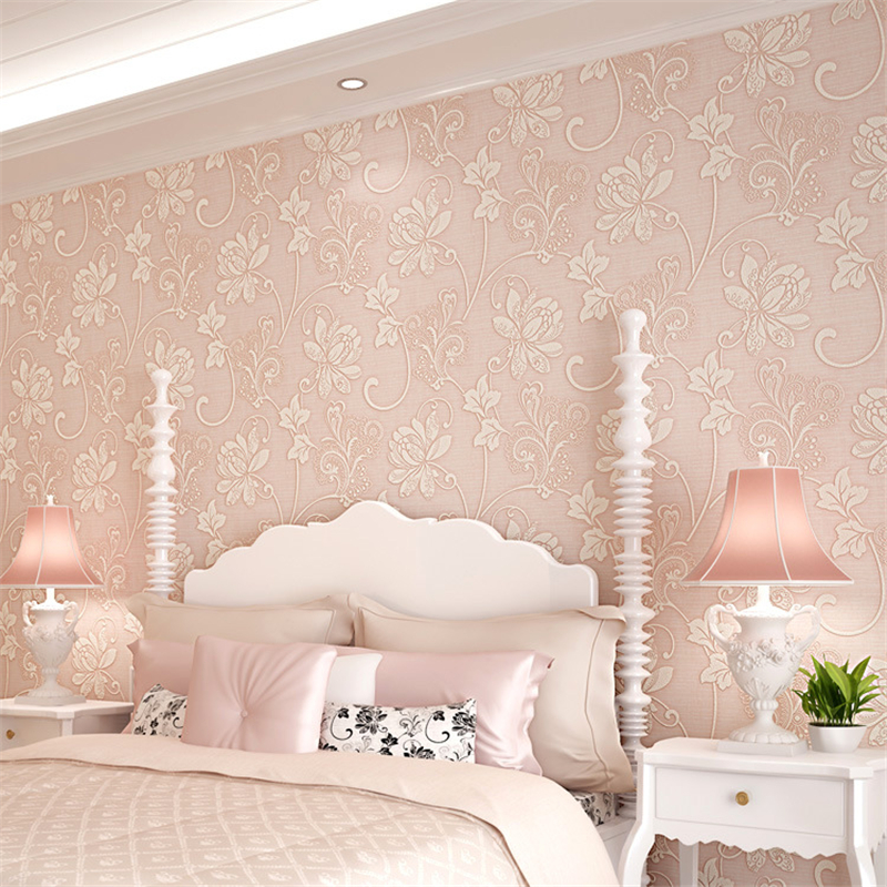 beibehang non-woven 3d wallpaper classic wall paper roll wallcovering luxury wallpaper floral papel de parede 3d papel pintado beibehang non woven pink love printed wallpaper roll striped design wall paper for kid room girls minimalist home decoration