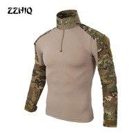 Тактический в стиле армии США Военная униформа для страйкбола Военная Маскировочная проверенная рубашка быстрая штурмовая рубашка с длинн...