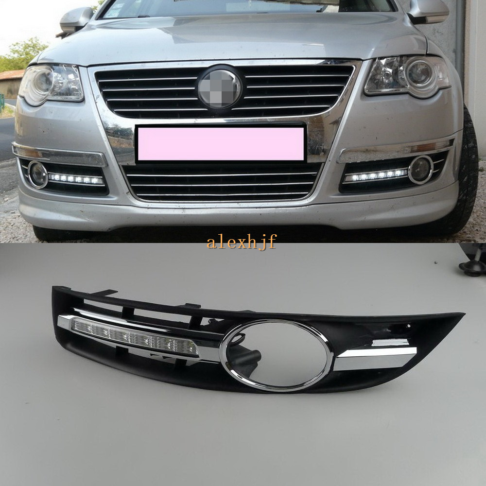 July King LED Daytime Running Lights DRL With Fog Lamp Cover, LED Fog Lamp Case for Volkswagen Passat B6 Magotan 2007~2011, 1:1 free shipping led daytime running lights drl with fog lamp cover led fog lamp case for volvo v60 2011 2013 1 1 replacement