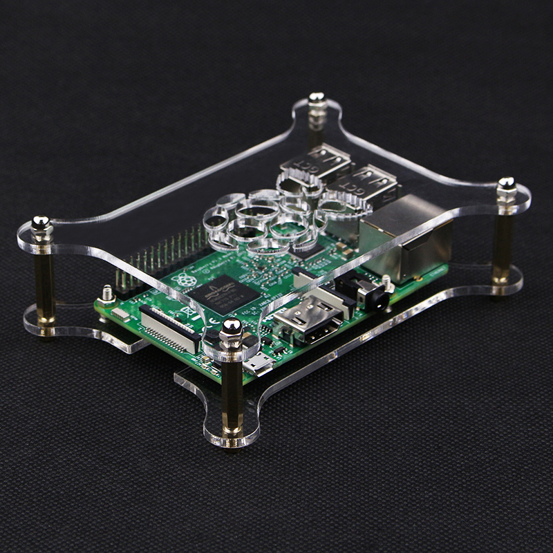 Raspberry Pi 4B Plus Acrylic Clear Case With Logo Transparent Box Compatible With Raspberry Pi 4B/3B+/3B/2B