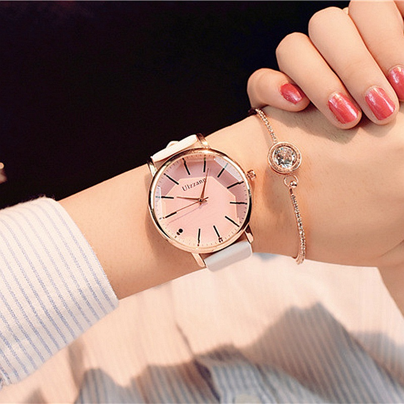 купить 2017 Relogio Brand Fashion Women Watches Ladies Casual Leather Quartz Watch Female Clock montre femme reloj mujer dress watch по цене 316.22 рублей