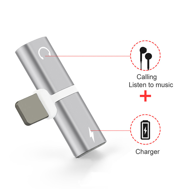 2 In 1 Headphone Charger For Iphone cover for iphone XR case for iphone 7 8 Plus 7plus Case Phone Accessories