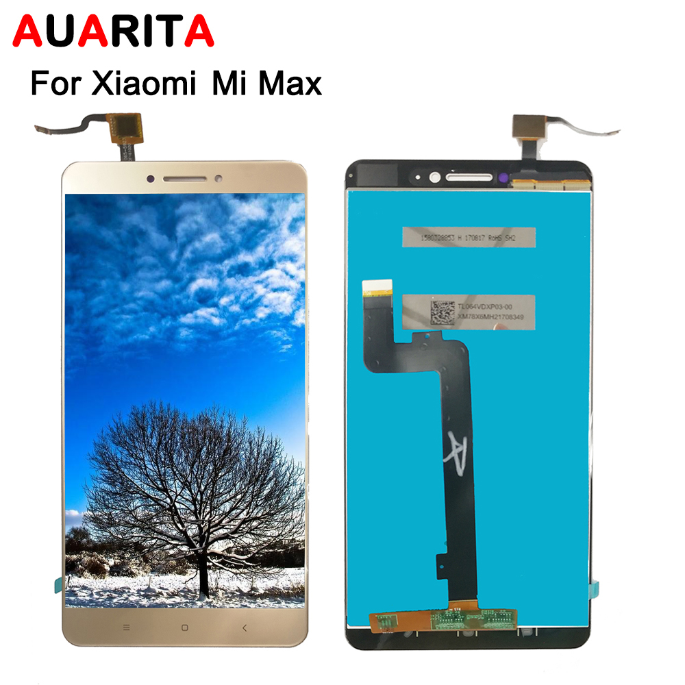 For XiaoMi MI MAX LCD Display Touch panel Screen front glass Digitizer Assembly Replacement For XiaoMi MAX Cell Phone+Tools