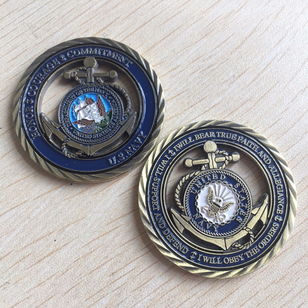 U S Navy Core Values Usn Challenge Coin Free Shipping In Non Currency Coins From Home Garden On Aliexpress Alibaba Group