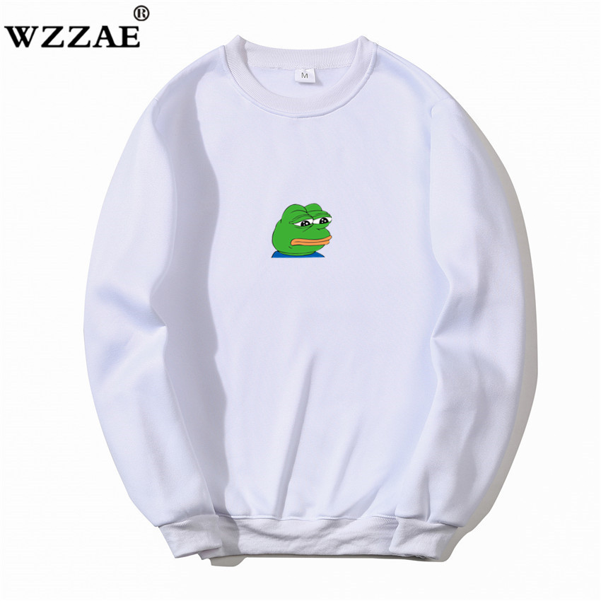 2019 Brand New Fashion Hoodies Streetwear Hip Hop Printing Sad Frog Hoodie Mens Hoody And Male Japanese Streetwears