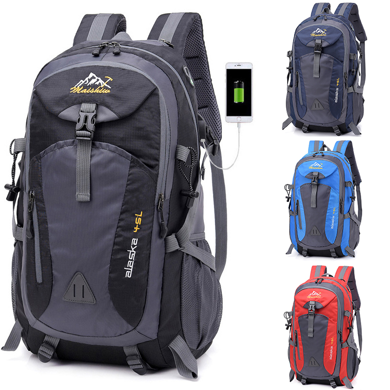Men Backpack Sports-Bag Mountaineering Climbing Waterproof Unisex for Male 40L Hiking