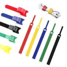 25 шт. многоразовый шнур Органайзер держатель, крепление кабельные стяжки ремни для наушников телефонов провода обёрточная бумага управляющие