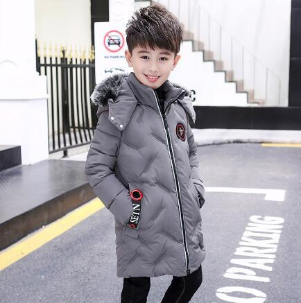 Cheap New Boys Winter Jacket Hooded Thick coats Kids Clothing Boy Outerwear Children Warm Cotton-Padded Jackets & Parkas