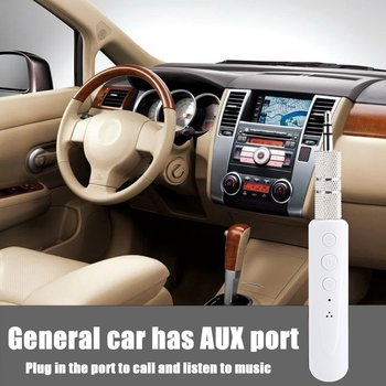 3.5mm Bluetooth Receiver With Mic Support Wireless Handsfree Auto AUX Audio Adapter For Car Stereos Phone MP3 Hot Selling