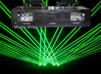 400 mw duplo túnel Laser verde gordura feixe de luz Laser dmx DJ stage iluminação Laser Micro passo motor scanner  Grande ângulo digitalização|light dmx|stage laser|dmx dj -