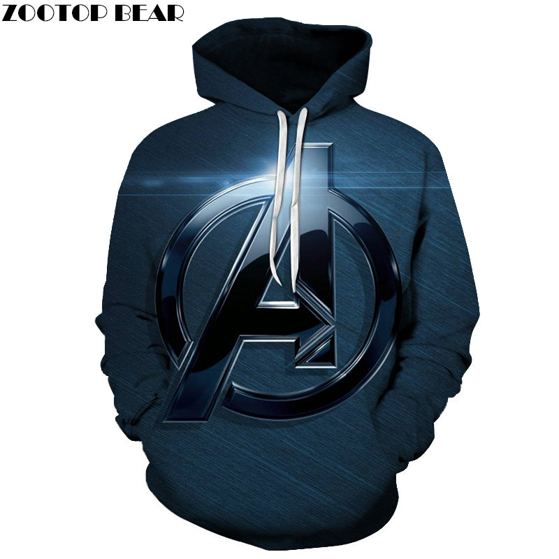 A Badge 3D Printed The Avengers 4 Men Hoody Marvel Pullover Tracksuit Spring Hoodies Streatwear 6XL Avengers Endgame ZOOTOPBEAR