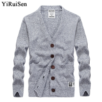 YIRUISEN Brand 2017 New Autumn Fashion Cardigans Men Plus Size Christmas Clothing For Men Winter Thick