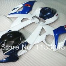 Мотоциклетный вставной обтекатель комплект для SUZUKI GSX-R1000 GSX R1000 GSXR 1000 K5 05 06 K5 05-06 белого и синего цвета R436 GSXR1000 2005 2006 обтекатель