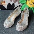 Monkids Senhora Bonita de Cristal Sapatos de Dança Meninas Sandálias Sapatos Meninas Princesa Crianças Sandálias Sandálias de Cristal Do Partido Para As Meninas