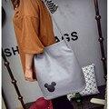 B. SACO! Saco Mulheres da forma Mensageiro Balde Grande Bolsa De Couro Das Mulheres de Compras Luz Armário bolsa Satchel Preto Cinza Branco
