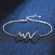 TJP Charm Silver 925 Women Bracelets Anklets Fashion Girl Party Accessories Trendy Female Bijou